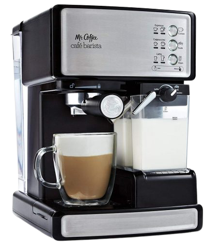 AICOOK Machine With 15 Bar Pump & Automatic Milk Frother